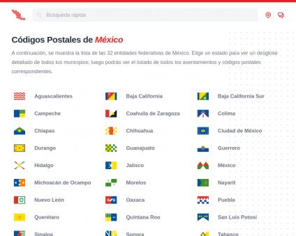 Mexico Zip Code lookup